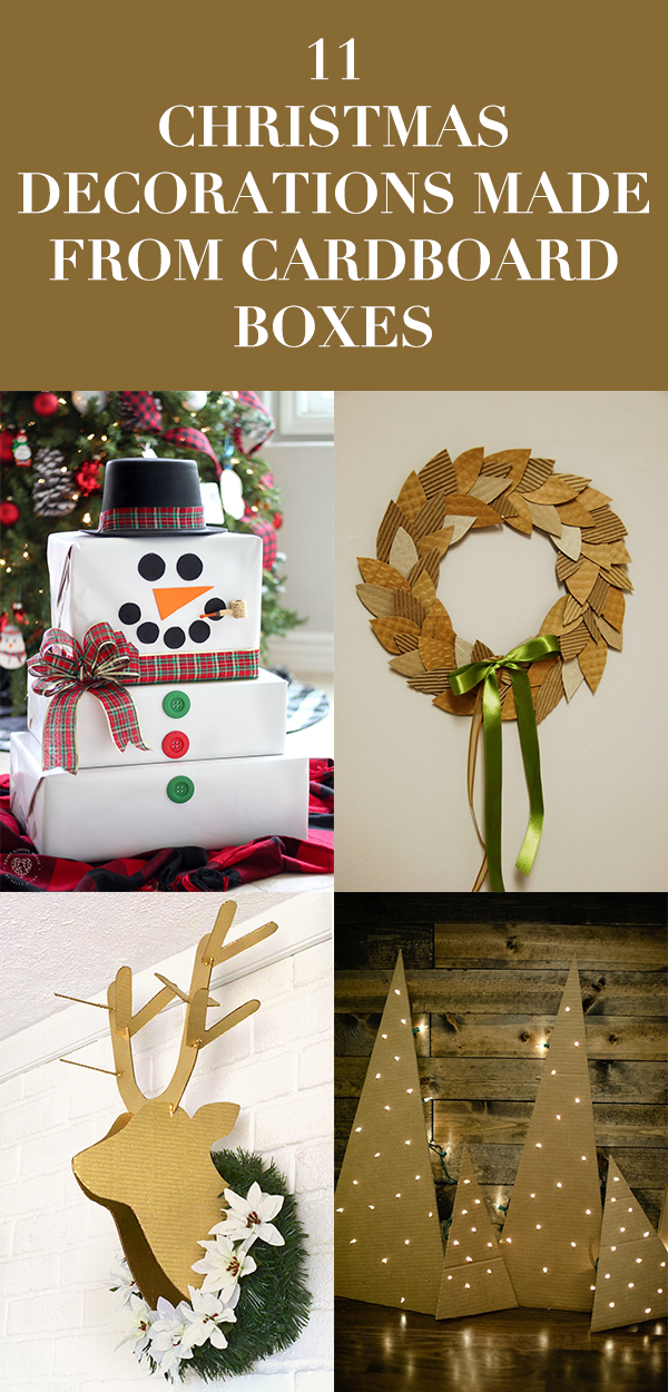 Christmas Decorations Made from Cardboard Boxes